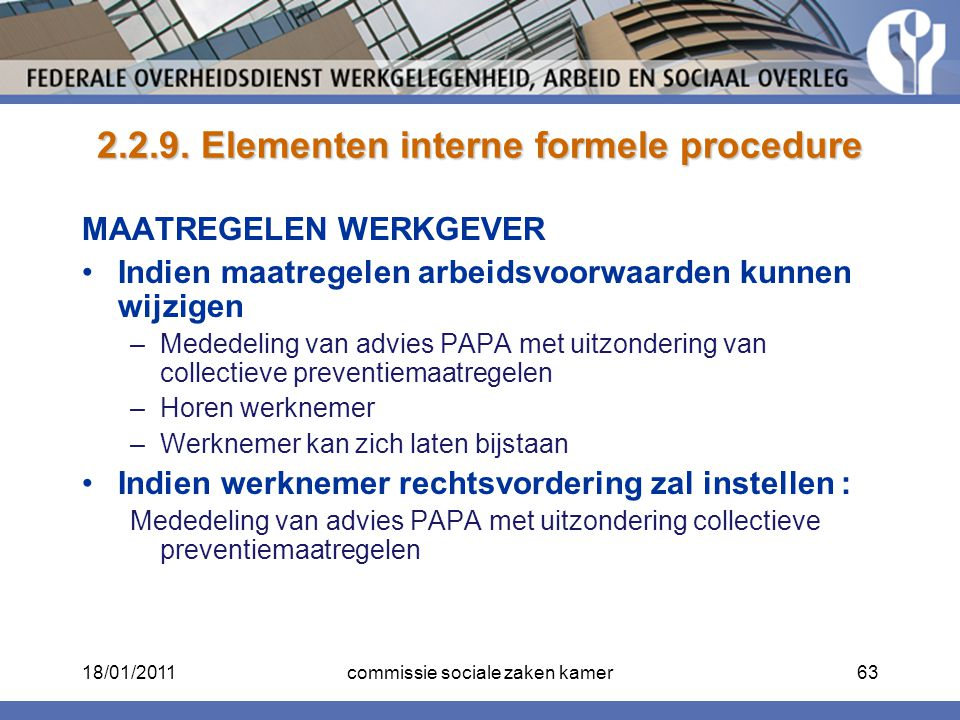 2.2.9. Elementen interne formele procedure