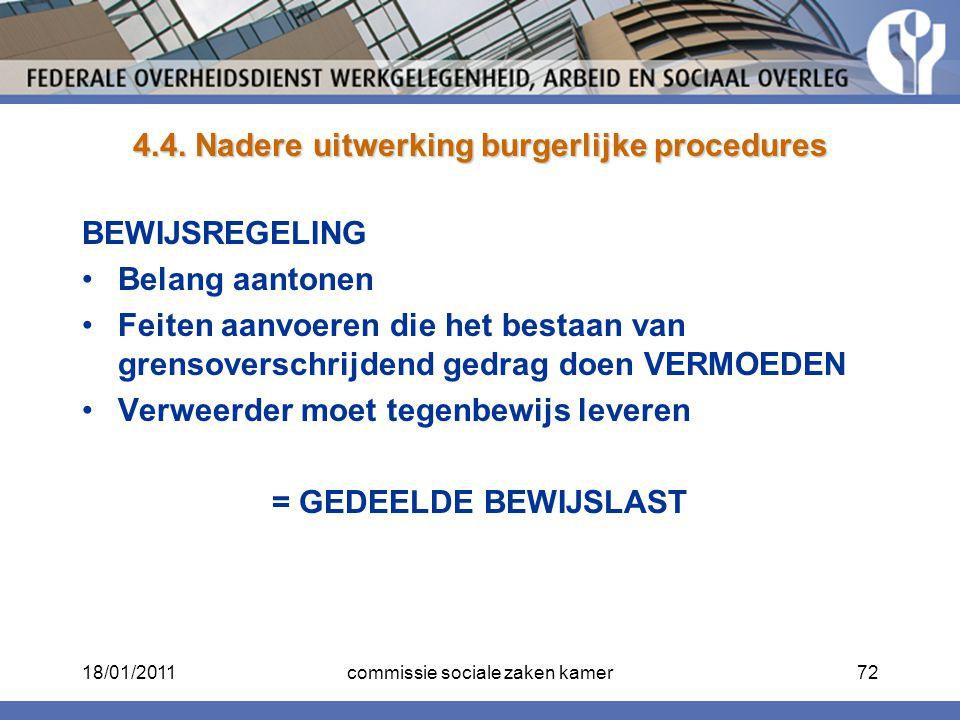 4.4. Nadere uitwerking burgerlijke procedures
