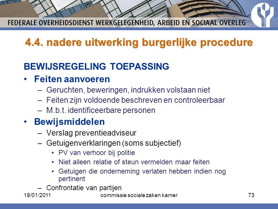 4.4. nadere uitwerking burgerlijke procedure