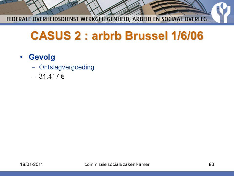 CASUS 2 : arbrb Brussel 1/6/06