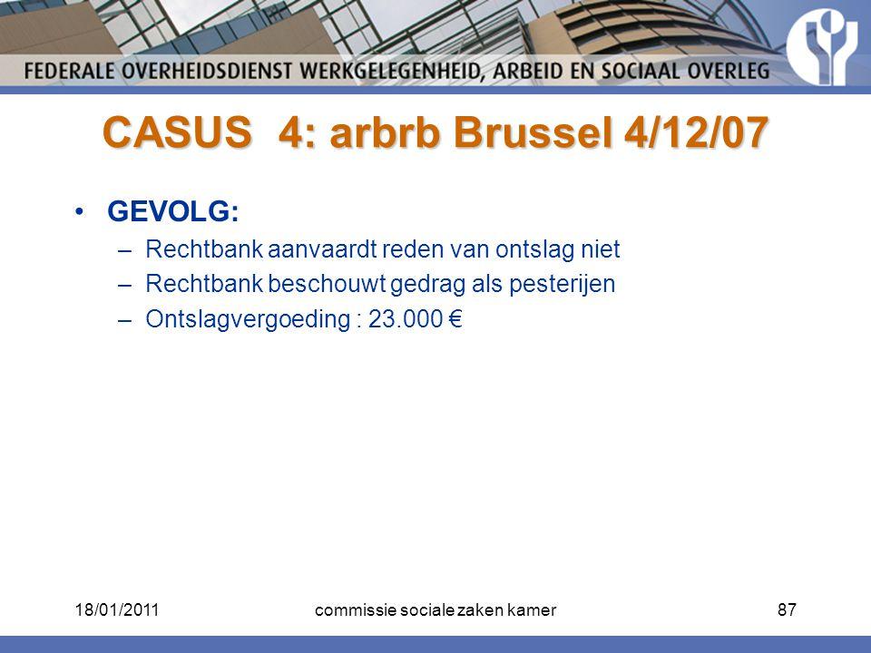 CASUS 4: arbrb Brussel 4/12/07