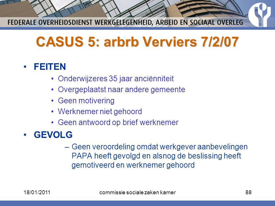 CASUS 5: arbrb Verviers 7/2/07