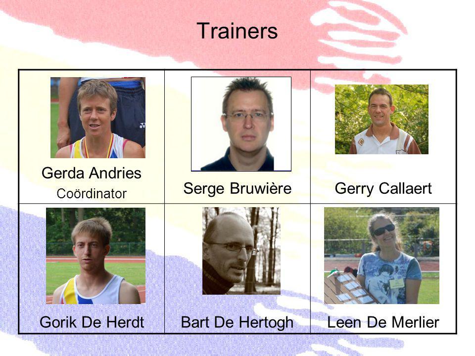 Trainers Gerda Andries Serge Bruwière Gerry Callaert Gorik De Herdt