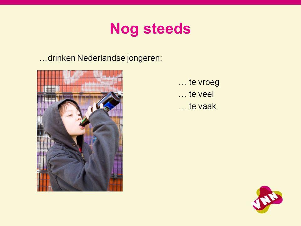 7-4-2017 Nog steeds. …drinken Nederlandse jongeren: … te vroeg … te veel … te vaak