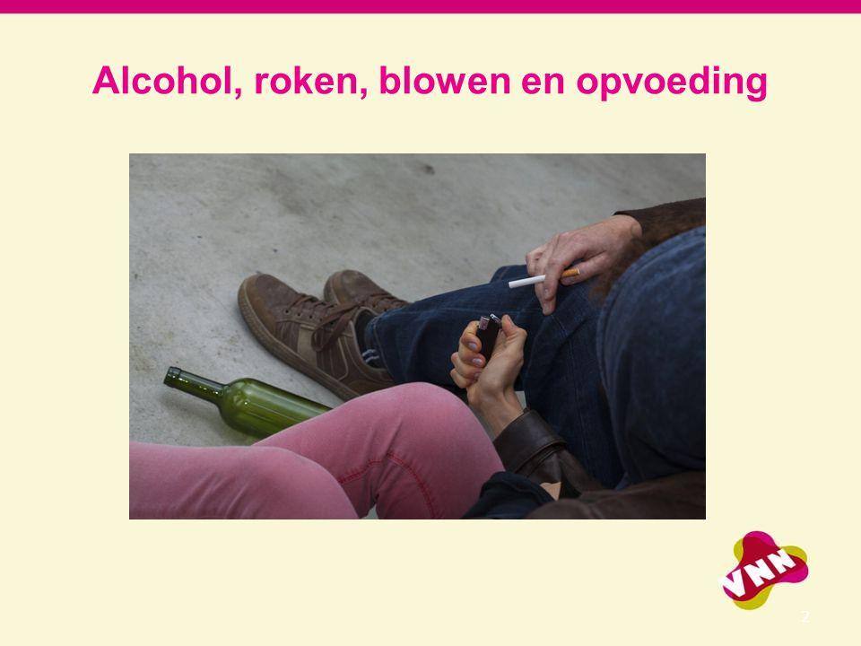 Alcohol, roken, blowen en opvoeding