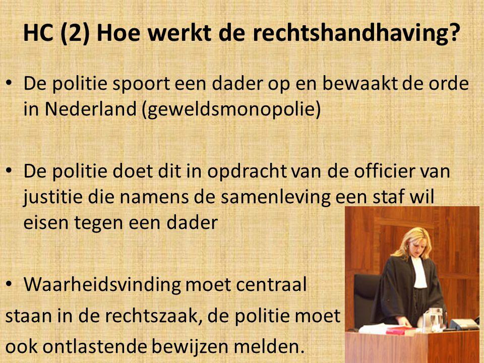 HC (2) Hoe werkt de rechtshandhaving