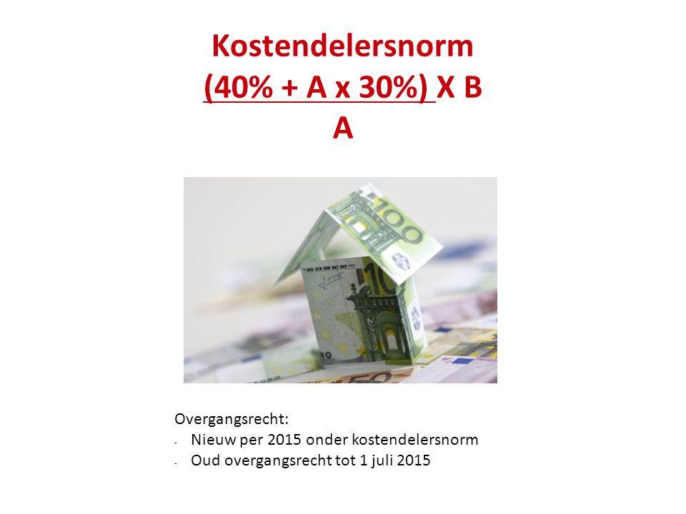 Kostendelersnorm (40% + A x 30%) X B A