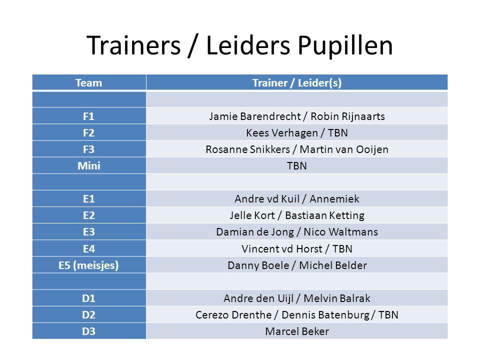 Trainers / Leiders Pupillen