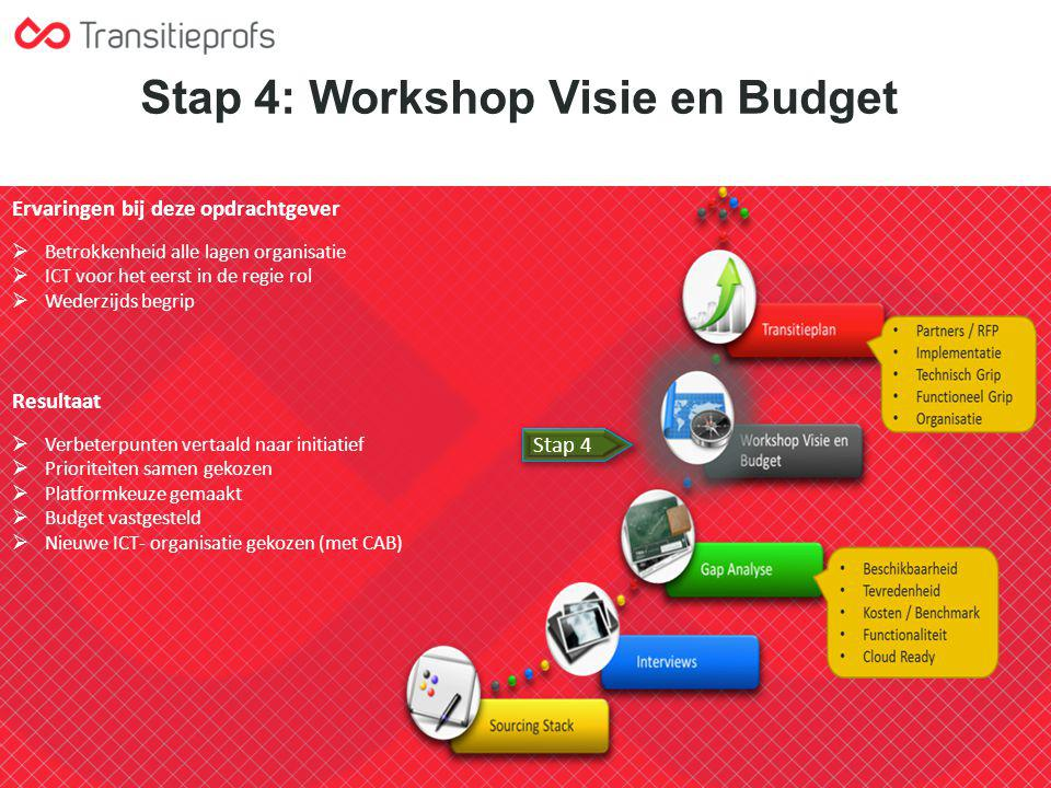 Stap 4: Workshop Visie en Budget