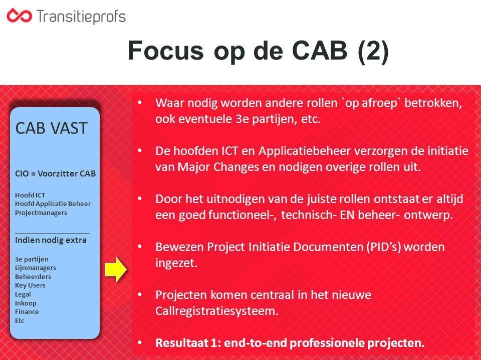 Focus op de CAB (2) CAB VAST