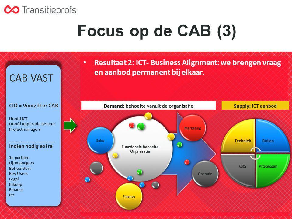 Focus op de CAB (3) CAB VAST