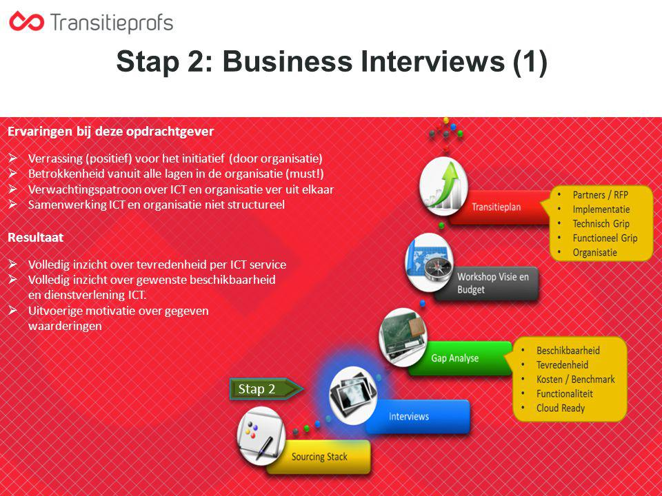 Stap 2: Business Interviews (1)