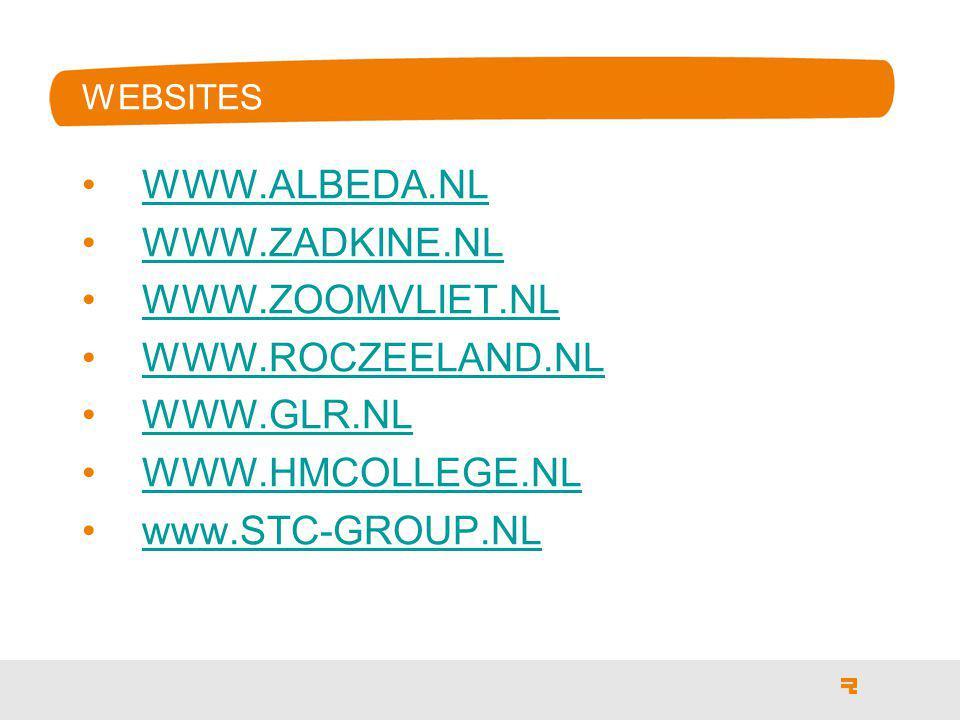 WWW.ALBEDA.NL WWW.ZADKINE.NL WWW.ZOOMVLIET.NL WWW.ROCZEELAND.NL