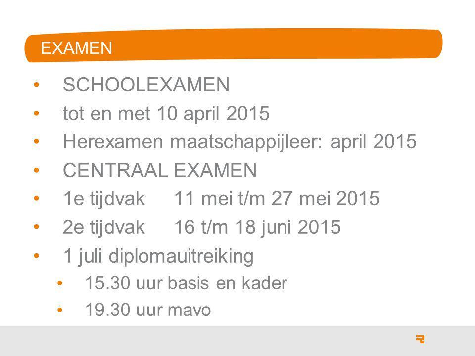 Herexamen maatschappijleer: april 2015 CENTRAAL EXAMEN