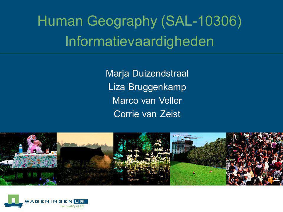 Human Geography (SAL-10306) Informatievaardigheden