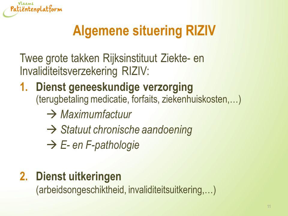 Algemene situering RIZIV