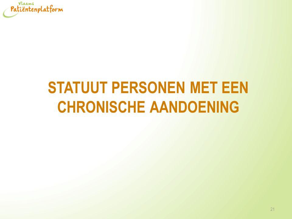 Statuut personen met een chronische aandoening
