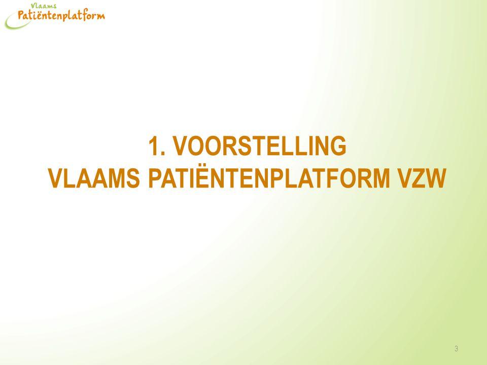 1. VOOrstelling Vlaams patiËntenplatform VZW