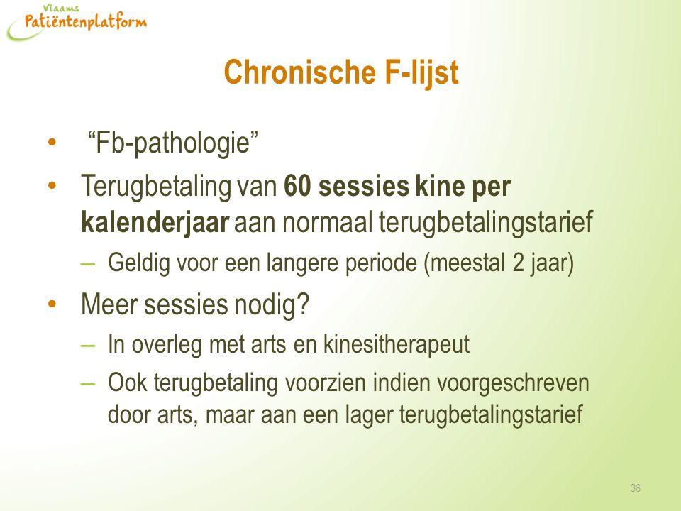 Chronische F-lijst Fb-pathologie