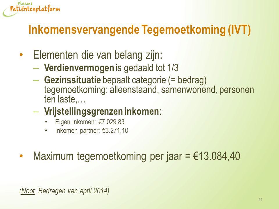 Inkomensvervangende Tegemoetkoming (IVT)
