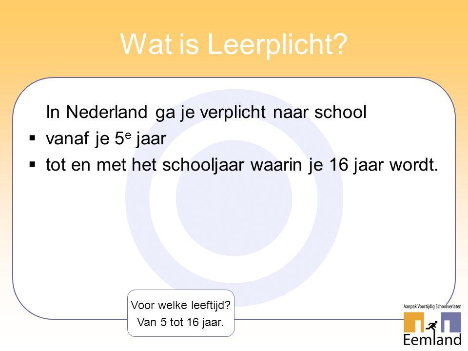 Wat is Leerplicht In Nederland ga je verplicht naar school