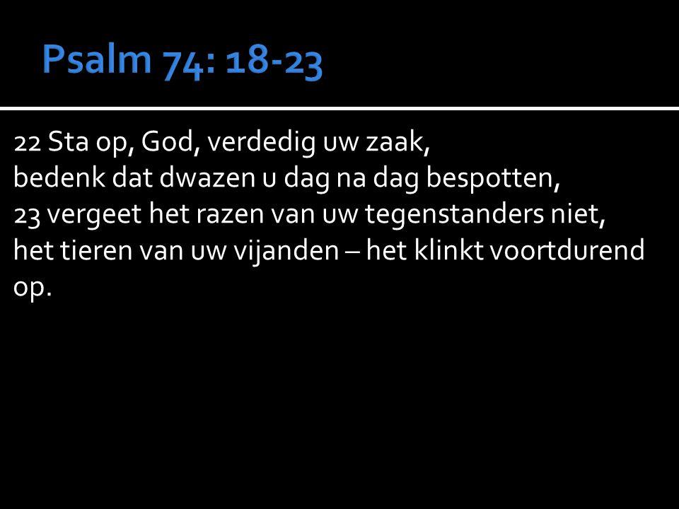 Psalm 74: 18-23