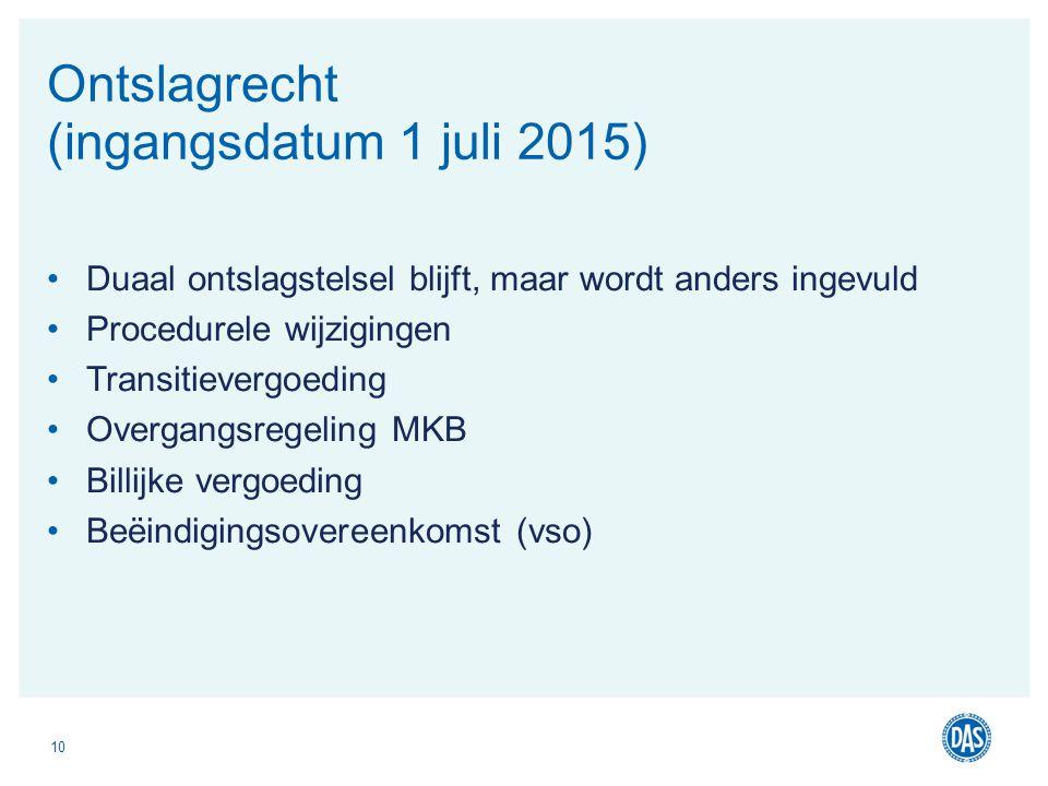 Ontslagrecht (ingangsdatum 1 juli 2015)