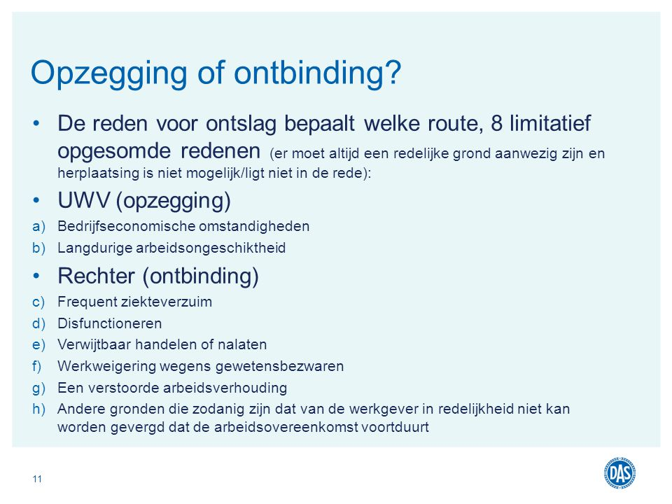 Opzegging of ontbinding