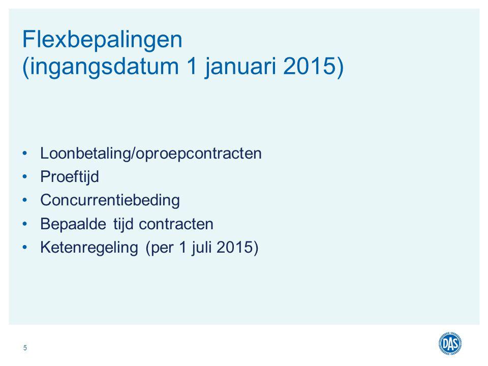 Flexbepalingen (ingangsdatum 1 januari 2015)
