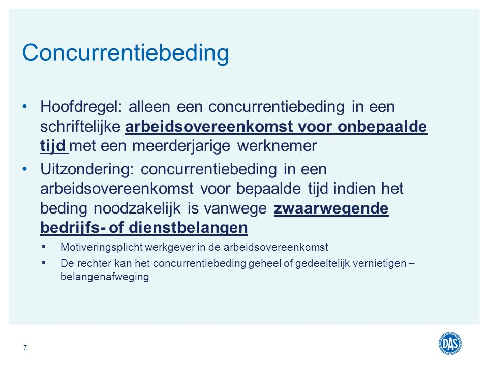 Concurrentiebeding