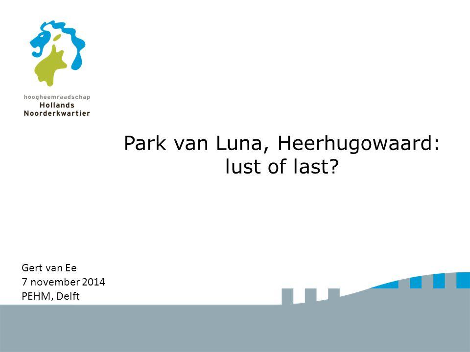 Park van Luna, Heerhugowaard: lust of last