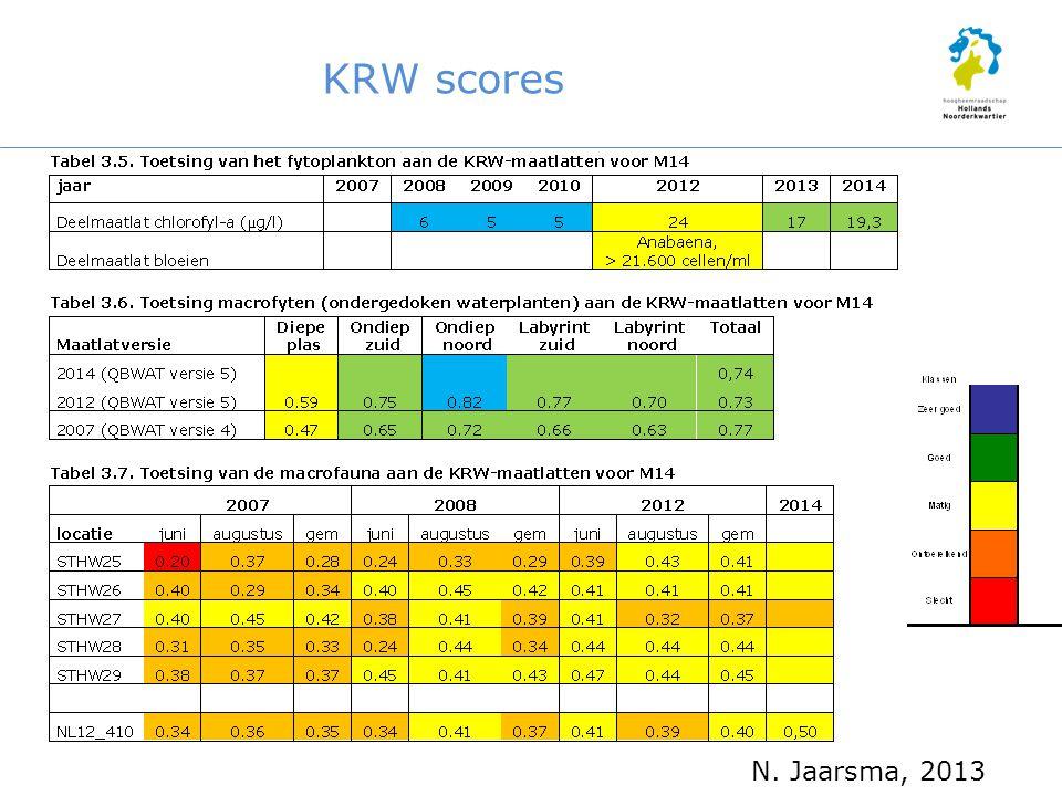 KRW scores N. Jaarsma, 2013