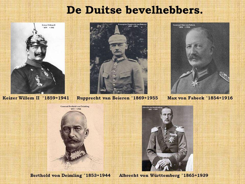 De Duitse bevelhebbers.