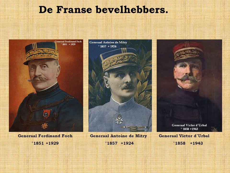 De Franse bevelhebbers.