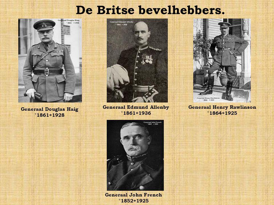 De Britse bevelhebbers.