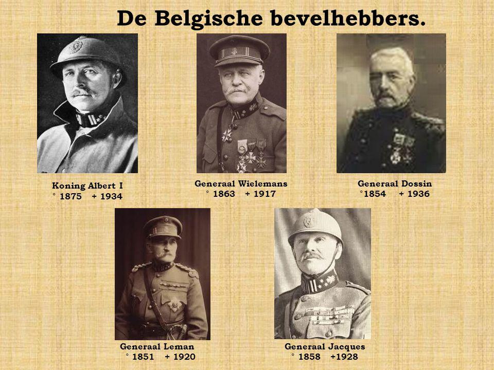 De Belgische bevelhebbers.