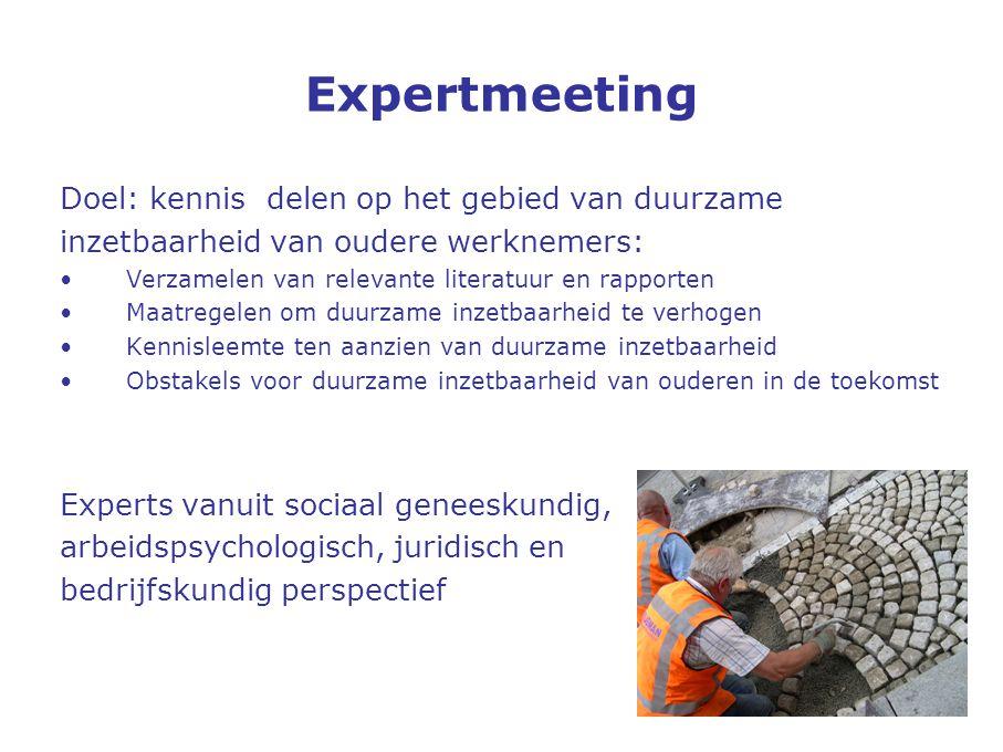 Expertmeeting Doel: kennis delen op het gebied van duurzame
