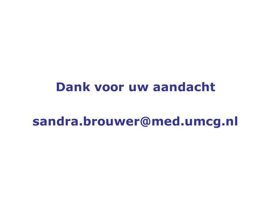 Dank voor uw aandacht sandra.brouwer@med.umcg.nl