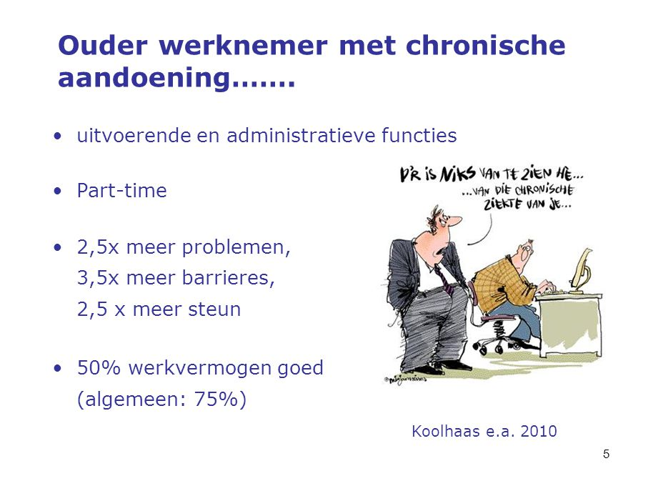 Ouder werknemer met chronische aandoening…….