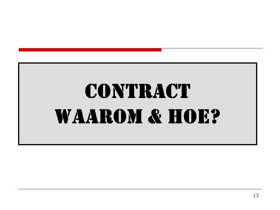Contract waarom & hoe