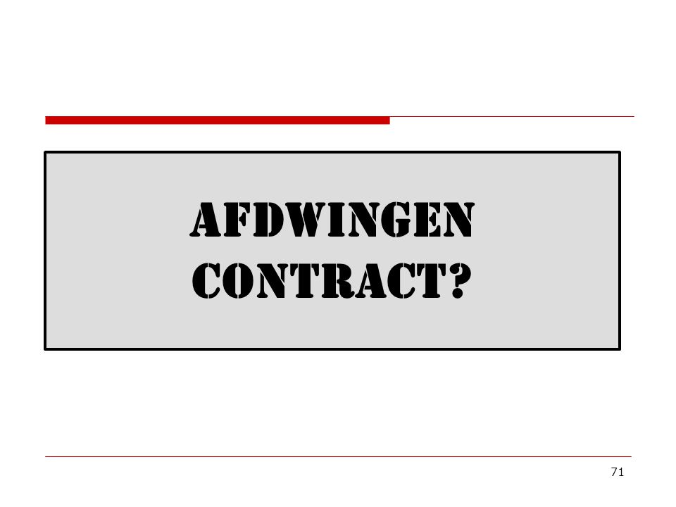Afdwingen Contract