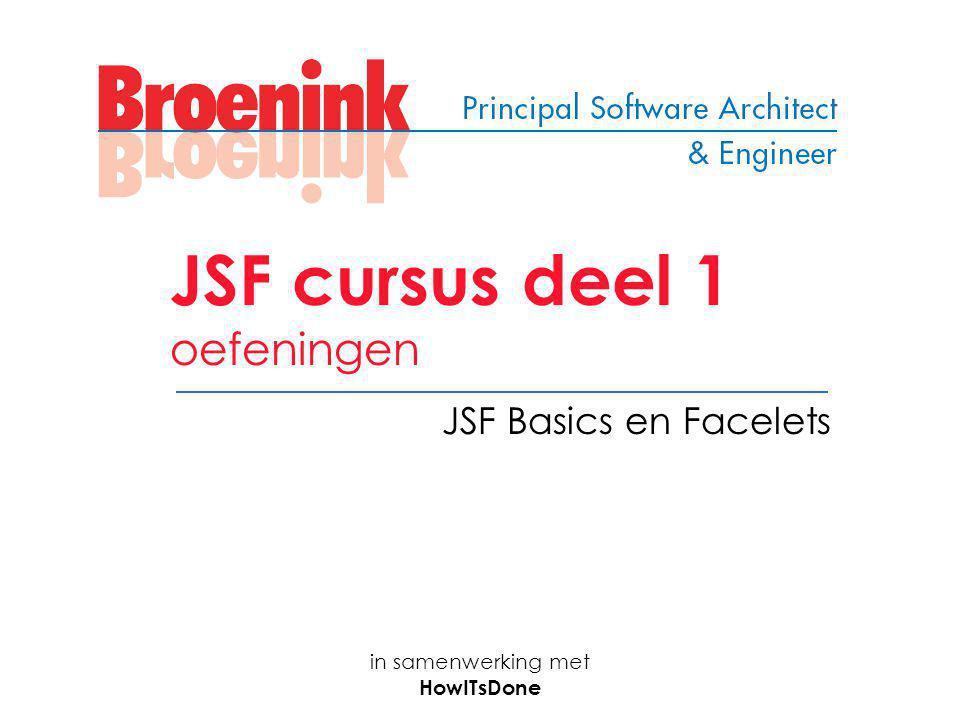 JSF cursus deel 1 oefeningen