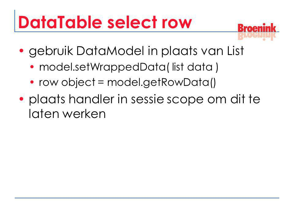 DataTable select row gebruik DataModel in plaats van List