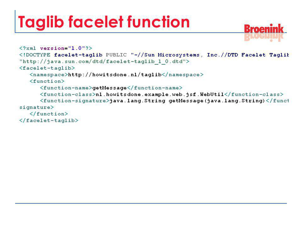 Taglib facelet function