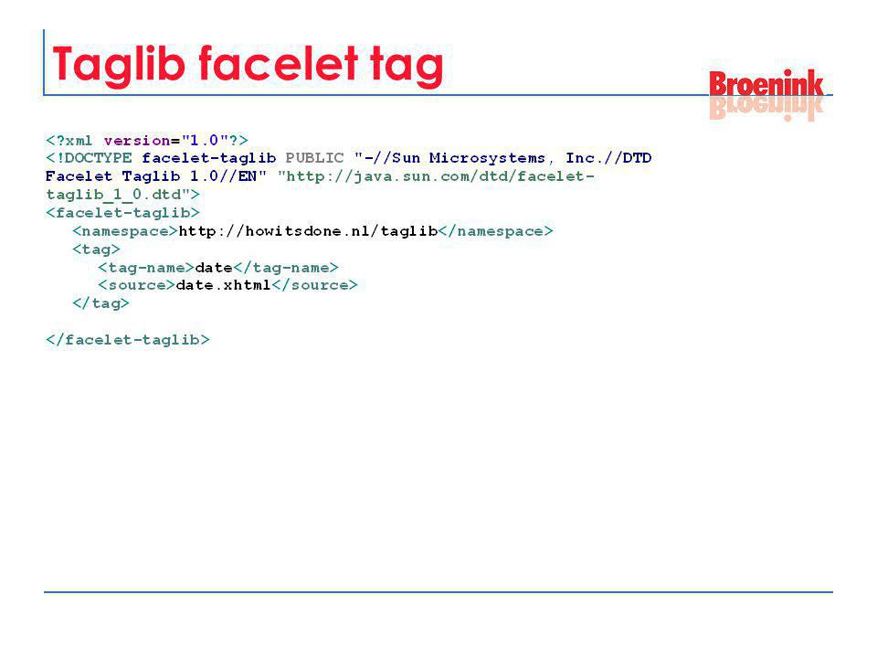 Taglib facelet tag