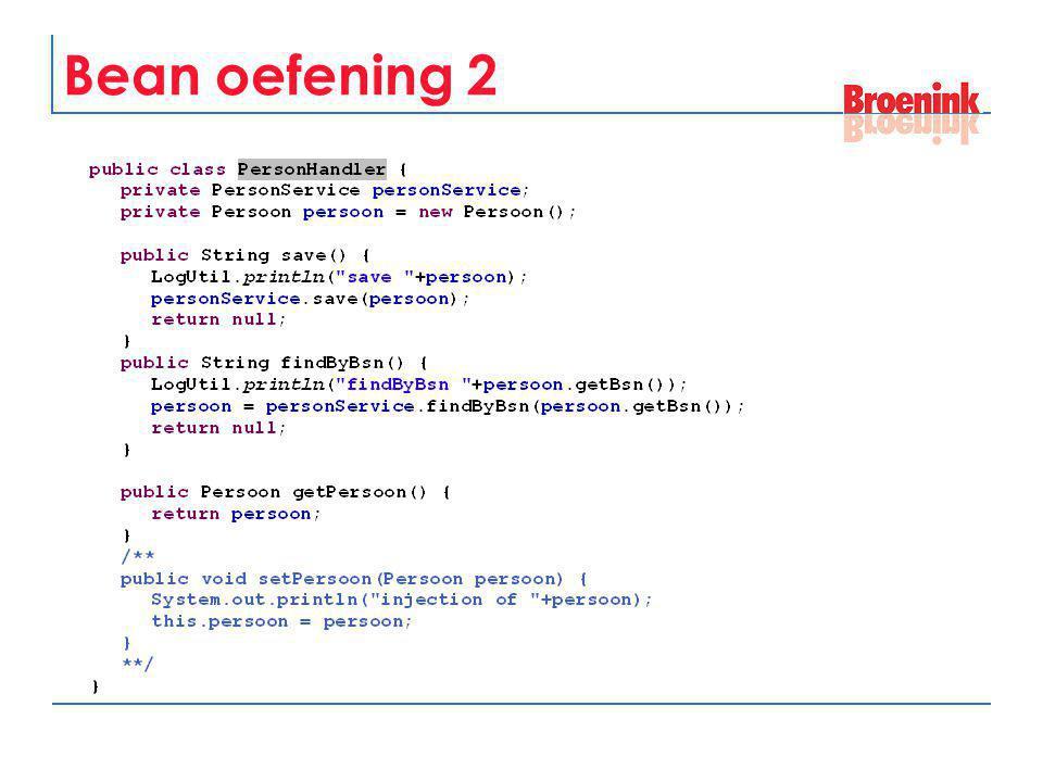 Bean oefening 2