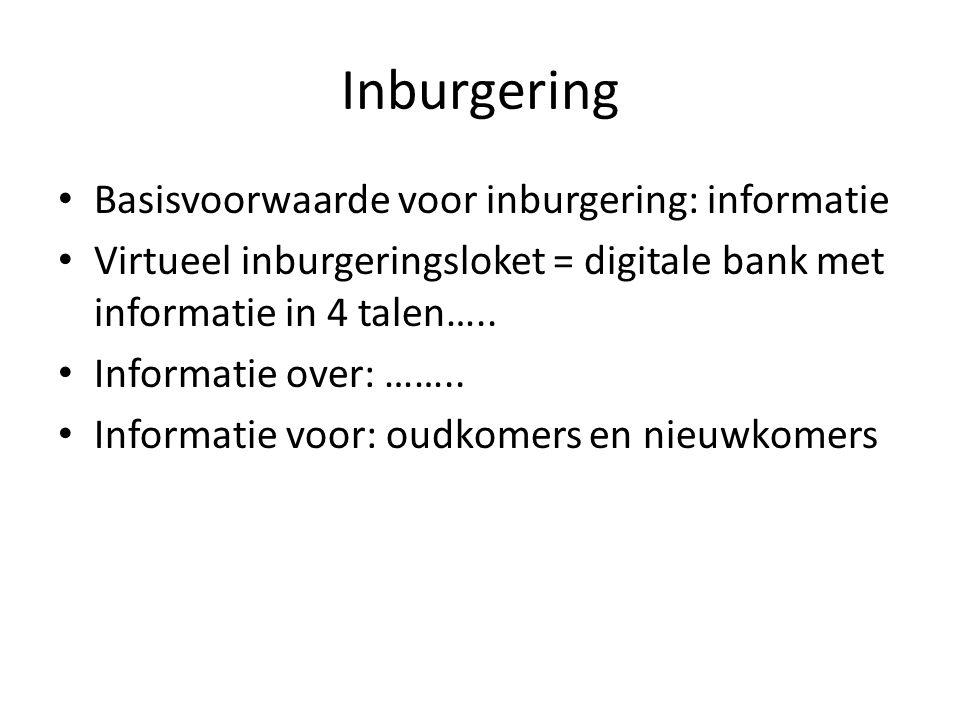 Inburgering Basisvoorwaarde voor inburgering: informatie