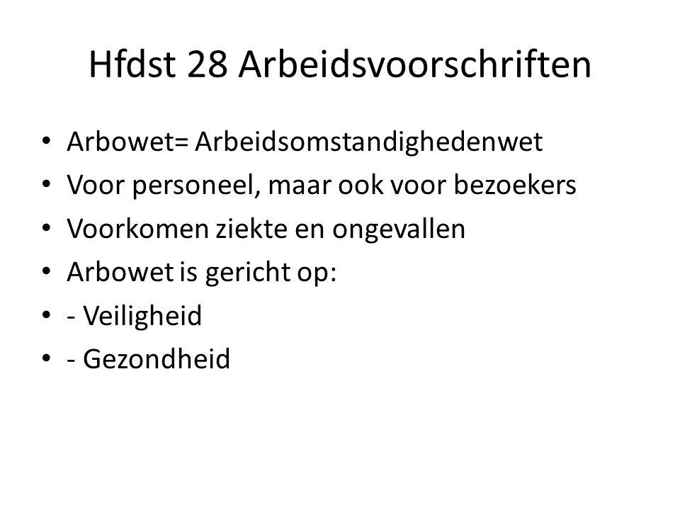 Hfdst 28 Arbeidsvoorschriften