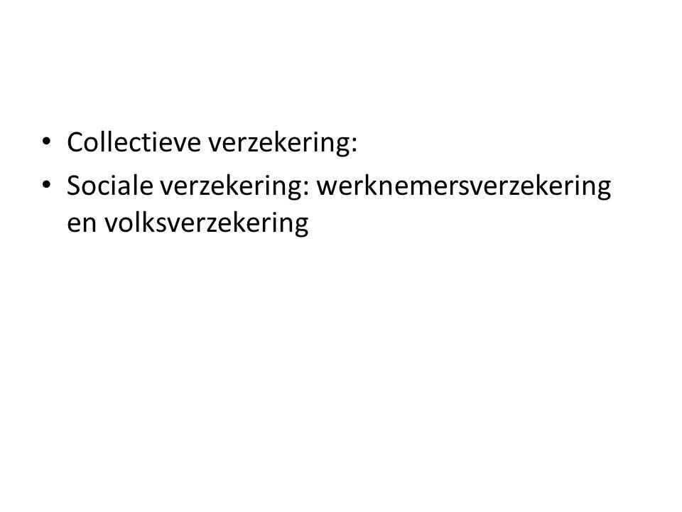 Collectieve verzekering: