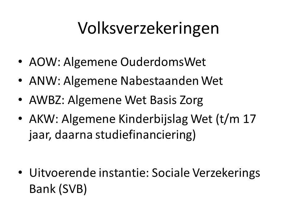 Volksverzekeringen AOW: Algemene OuderdomsWet
